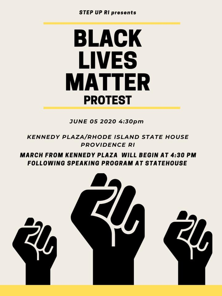 Black Lives Matter Protest in Providence, June 5, 2020.