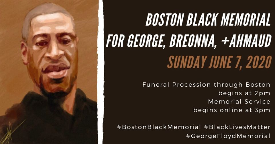 Boston Black Memorial for George, Breonna + Ahmaud in Boston, June 7, 2020.