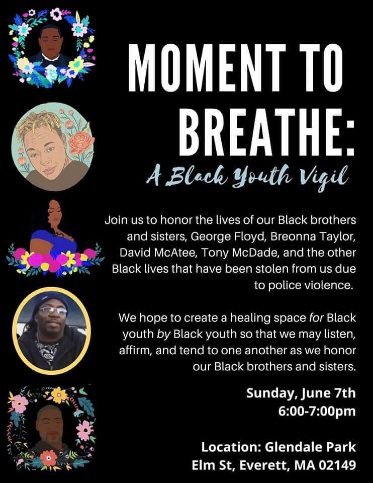 Moment to Breathe: A Black Youth Vigil at Glendale Park, Everett, Massachusetts, June 7, 2020.