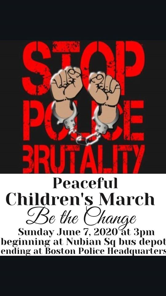 Peaceful Children's March in Boston, June 7, 2020.