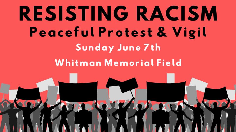 Peaceful Protest & Vigil at Whitman, Massachusetts, June 7, 2020.