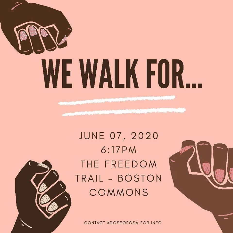 We Walk For… at Boston Common, June 7, 2020.