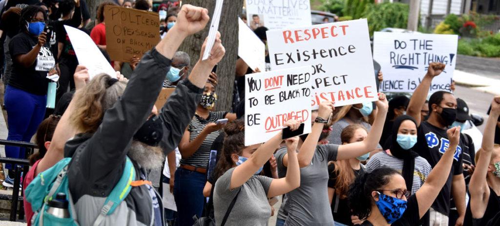 Black Lives Matter March in Malden, Massachusetts, June 5, (© Greg Cook photo)