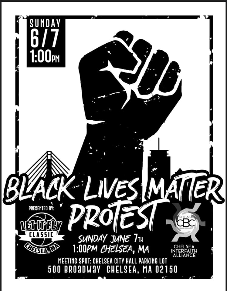 Black Lives Matter Protest at Chelsea City Hall, June 7, 2020.