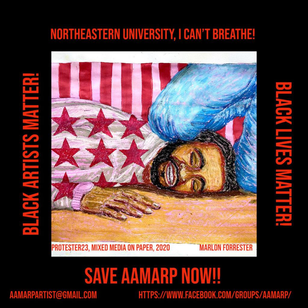 "Marlon Forrester ""Northeastern University, I Can't Breathe! Save AAMARP Now!!"""