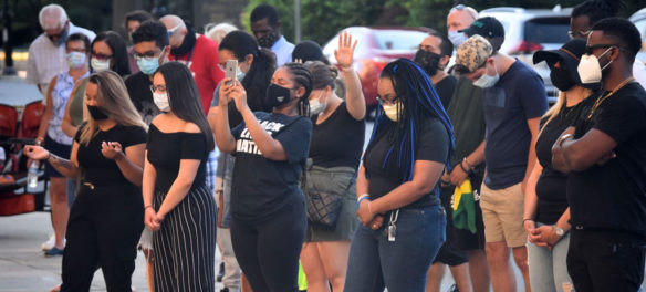 A Night of Prayer for Racial Justice at Malden High School, June 26, 2020. (©Greg Cook photo)