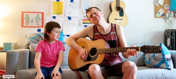 Jef Czekaj (right) with Ollie. (Courtesy Jef Czekaj)