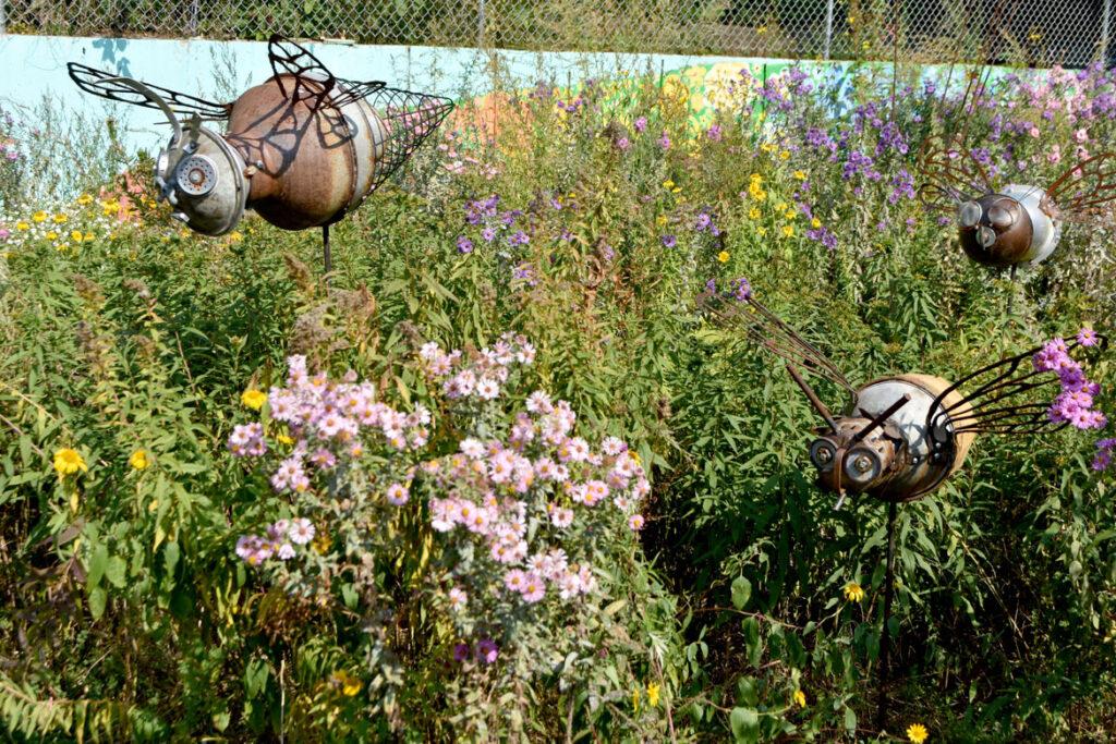 Honeybee Meadow at ArtSpace Maynard, Sept. 25, 2020. (© Greg Cook photo)