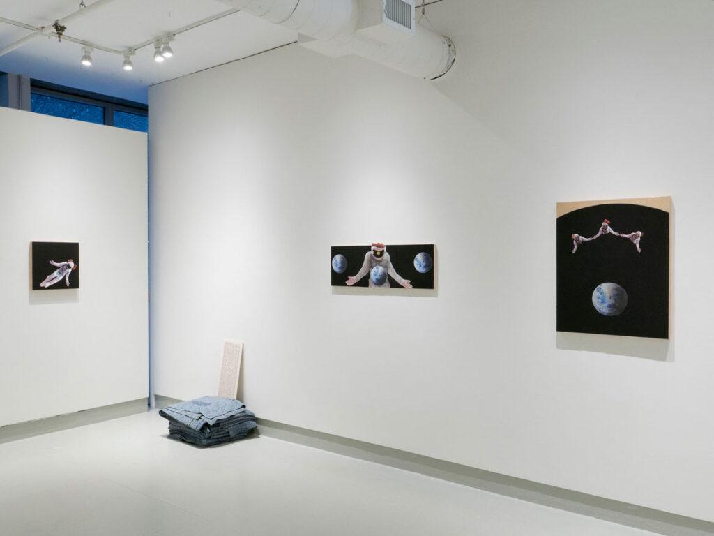"James Ari Montford's 2021 ""Indigenous Voice"" exhibition at Howard Yezerski Gallery."