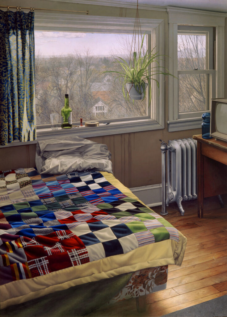 """Scott Prior, """"Bedroom in Winter,"""" 1980, oil on canvas. (Courtesy Cahoon Museum of American Art)"""