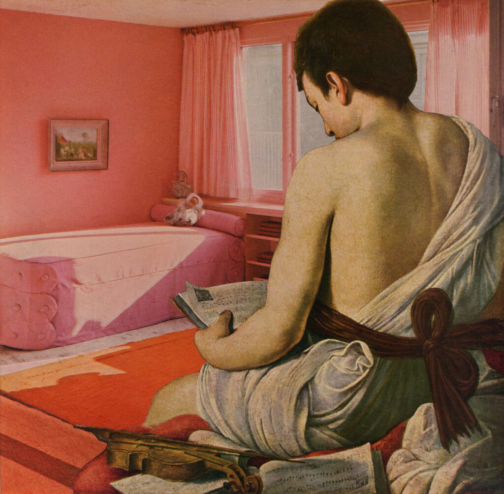 "John O'Reilly, ""Pink Bedroom 6-2-79,"" paper montage, June 2, 1979.(Courtesy Howard Yezerski Gallery)"