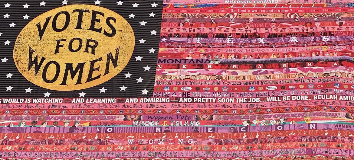 """""""Her Flag"""" created by Oklahoma artist Marilyn Artus and collaborators. (Courtesy National Museum of Women in the Art)"""
