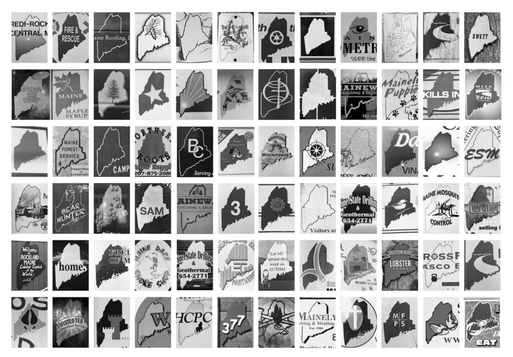 "S.B. Walker, ""Pine Tree Signage, Maine,"" 2014-16. (Courtesy Center for Maine Contemporary Art)"