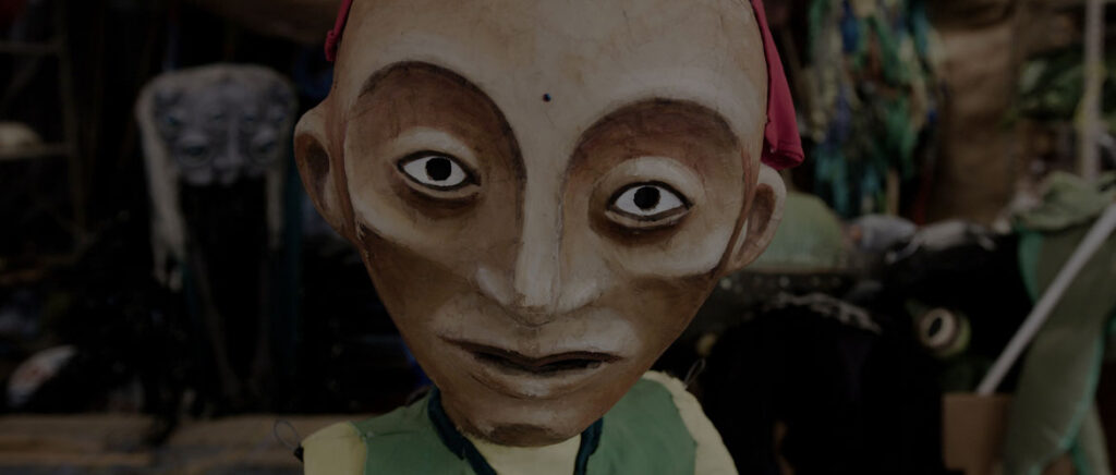 """From """"We Are Here"""" by Marc Levy and Marc Salomon of The Marcs: Puppet by Paperhand Puppet Intervention in North Carolina. (Courtesy of The Marcs)"""