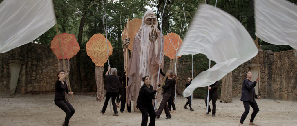 """From """"We Are Here"""" by Marc Levy and Marc Salomon of The Marcs: Paperhand Puppet Intervention performs their 2019 summer spectacle called """"We Are Here"""" in North Carolina. (Courtesy of The Marcs)"""
