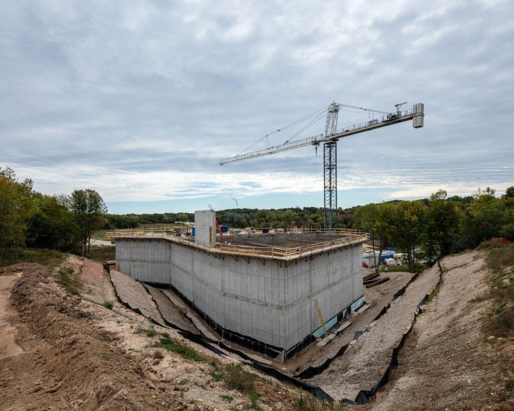 The Art Preserve of the Kohler Arts Center under construction, Sheboygan, Wisconsin. (Courtesy Kohler Art Preserve | James Florio)