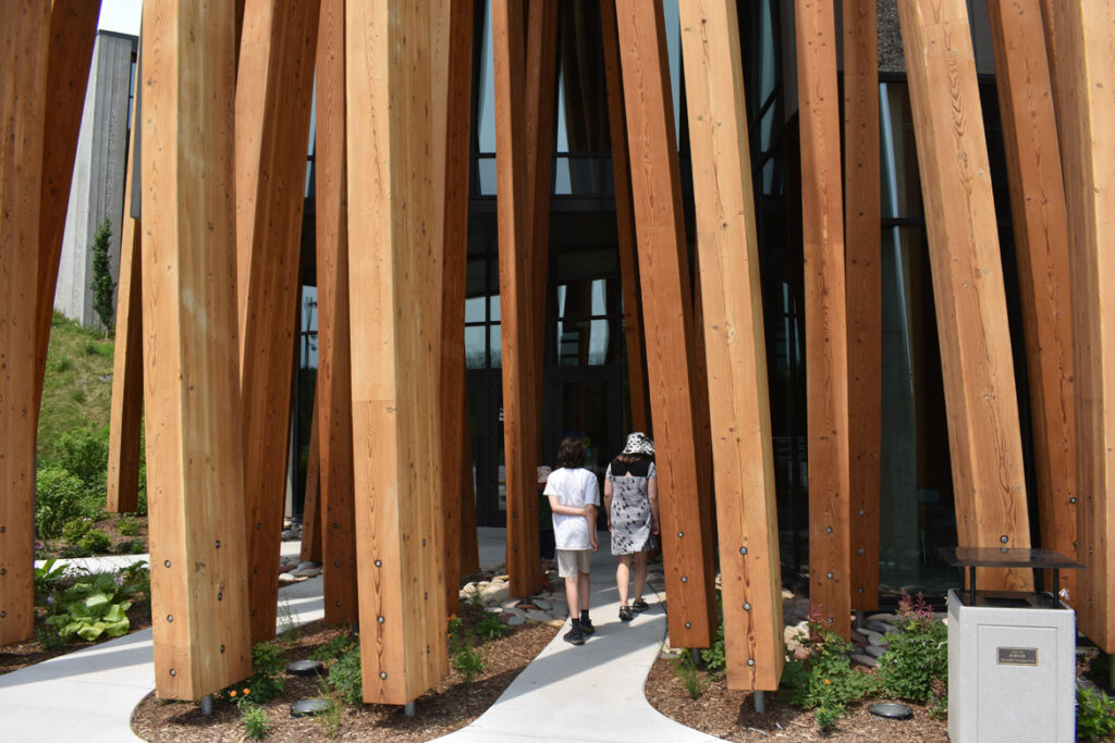 Entrance to the Art Preserve of the Kohler Arts Center in Sheboygan, Wisconsin, July 2, 2021. (©Greg Cook photo)