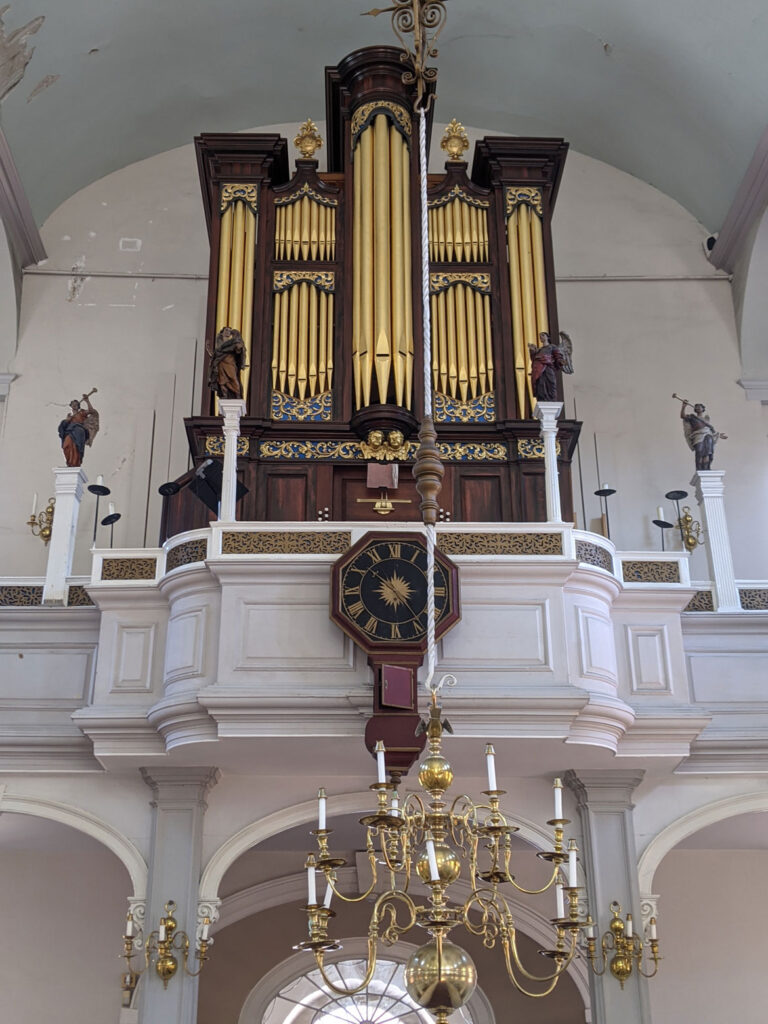 The repaired 1726 Avery-Bennett clock re-installed at Boston's Old North Church on June 16, 2021. (Courtesy Old North Church & Historic Site)