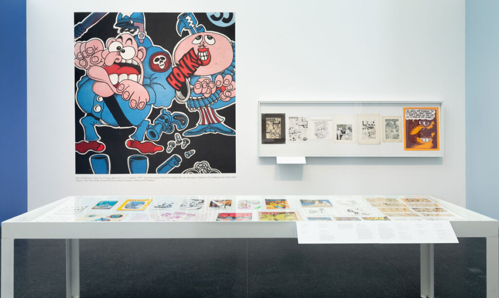 """""""Chicago Comics"""" at Chicago's Museum of Contemporary Art, 2021. (Photo: Nathan Keay, © MCA Chicago)"""