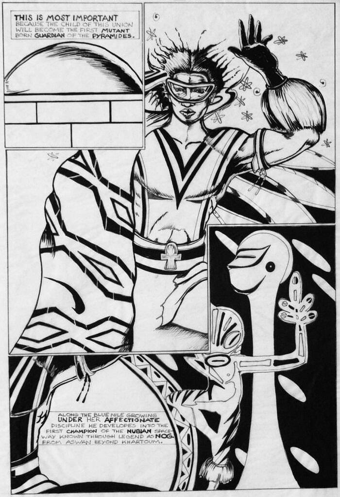 "Turtel Onli, ""Nog"" comic book page, 1980. (© 1981 Turtel Onli Courtesy of the artist)"
