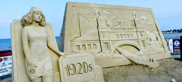 International Sand Sculpting Festival at Revere Beach, Aug. 10, 2021. (©Kari Percival photo)