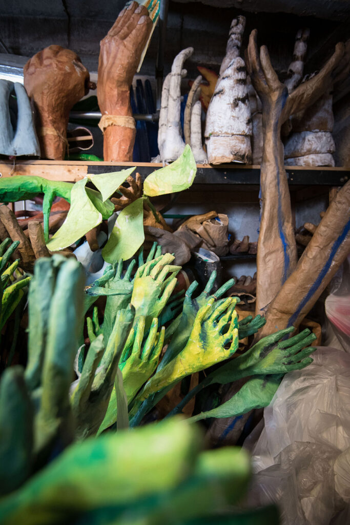 In the Heart of the Beast Puppet and Mask Theater's puppet and mask archive stored in a Minneapolis warehouse. (Bruce Silcox/In the Heart of the Best)