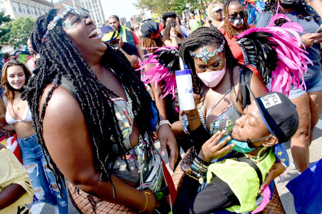 Cambridge Carnival parade, Sept. 12, 2021. (©Greg Cook photo)
