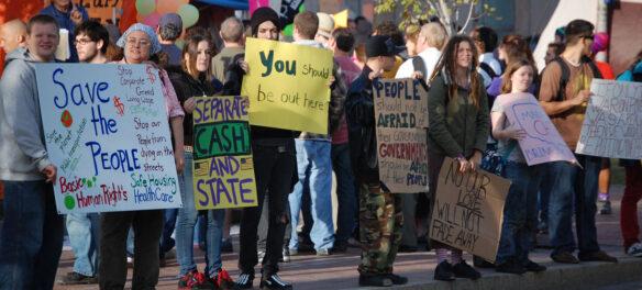 Occupy Boston at Dewey Square, Nov. 11, 2011. (©Greg Cook photo)