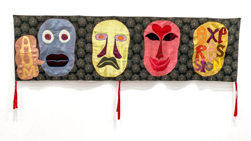 "Moki Cherry, ""Aum Expression,"" 1971, textile applique. (Corbett vs. Dempsey)"