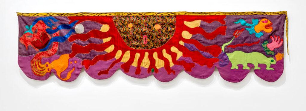 Moki Cherry, title unknown (Sun), c. 1973, textile applique. (Corbett vs. Dempsey)