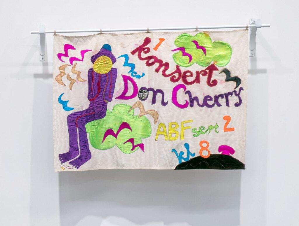 Moki Cherry, untitled (Konsert Don Cherry ABF Huset), 1968, textile applique. (Corbett vs. Dempsey)