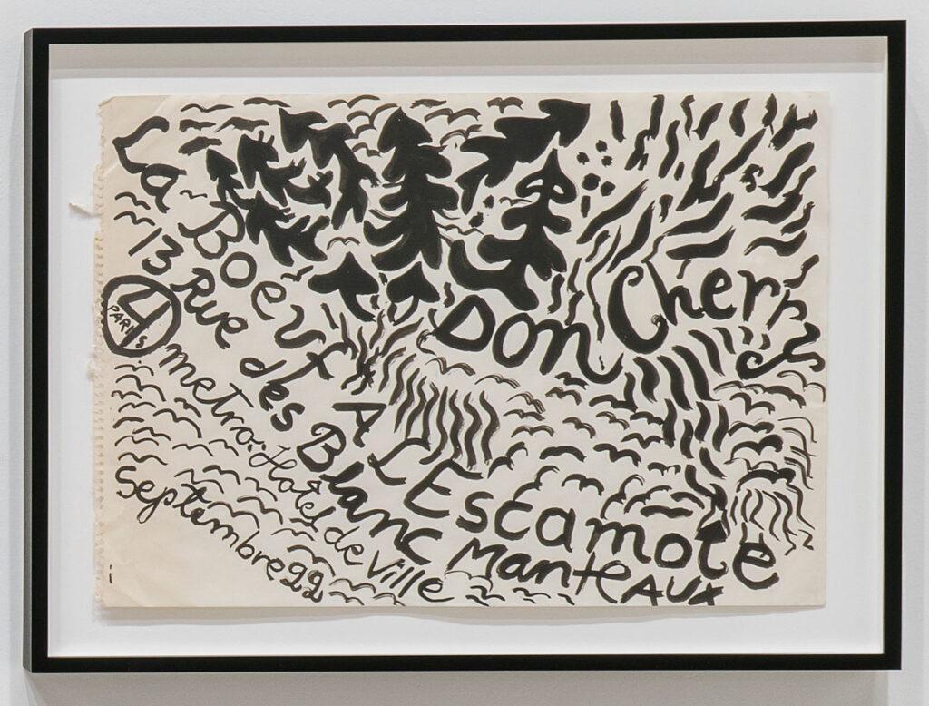 Moki Cherry, hand-painted poster for Don Cherry concert, Paris, France, 1967, acrylic on paper. (Corbett vs. Dempsey)