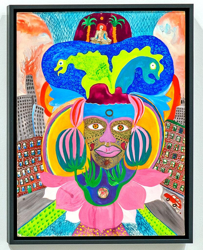 Moki Cherry, title unknown, c. 1970, acrylic on canvas. (Corbett vs. Dempsey)