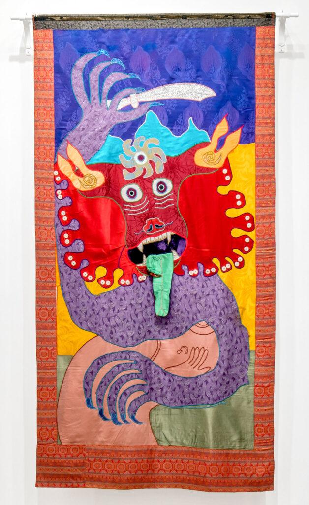 "Moki Cherry, ""Kali,"" 1973, textile applique. (Corbett vs. Dempsey)"