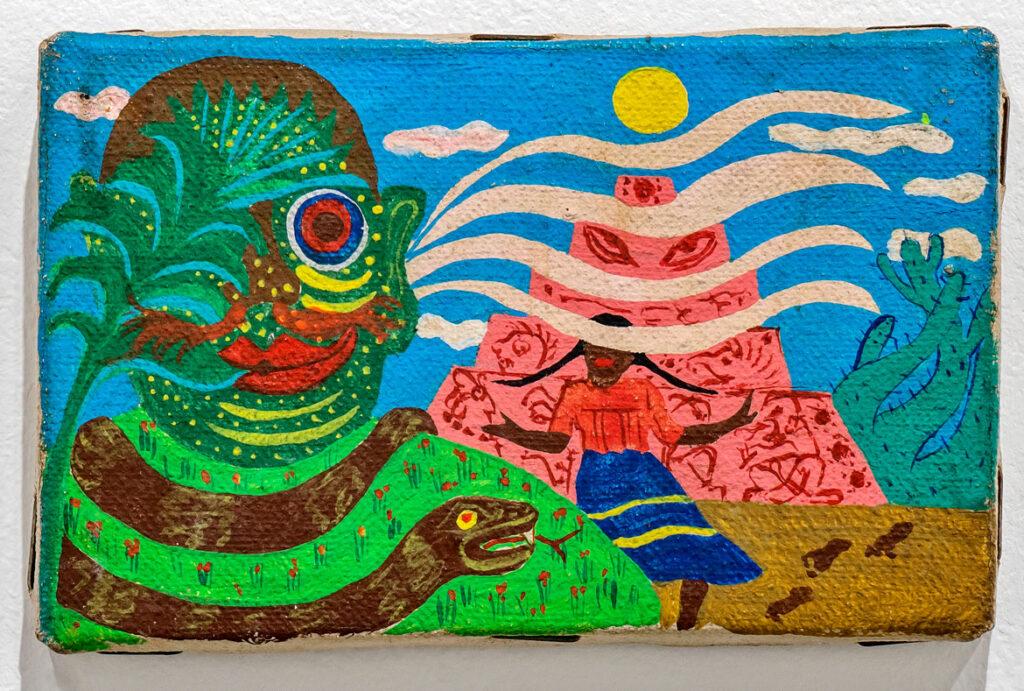 """Moki Cherry: Communicate, How?: Paintings and Tapestries, 1967 - 1980"" at Corbett vs. Dempsey, Chicago, September 2021. (Corbett vs. Dempsey)"