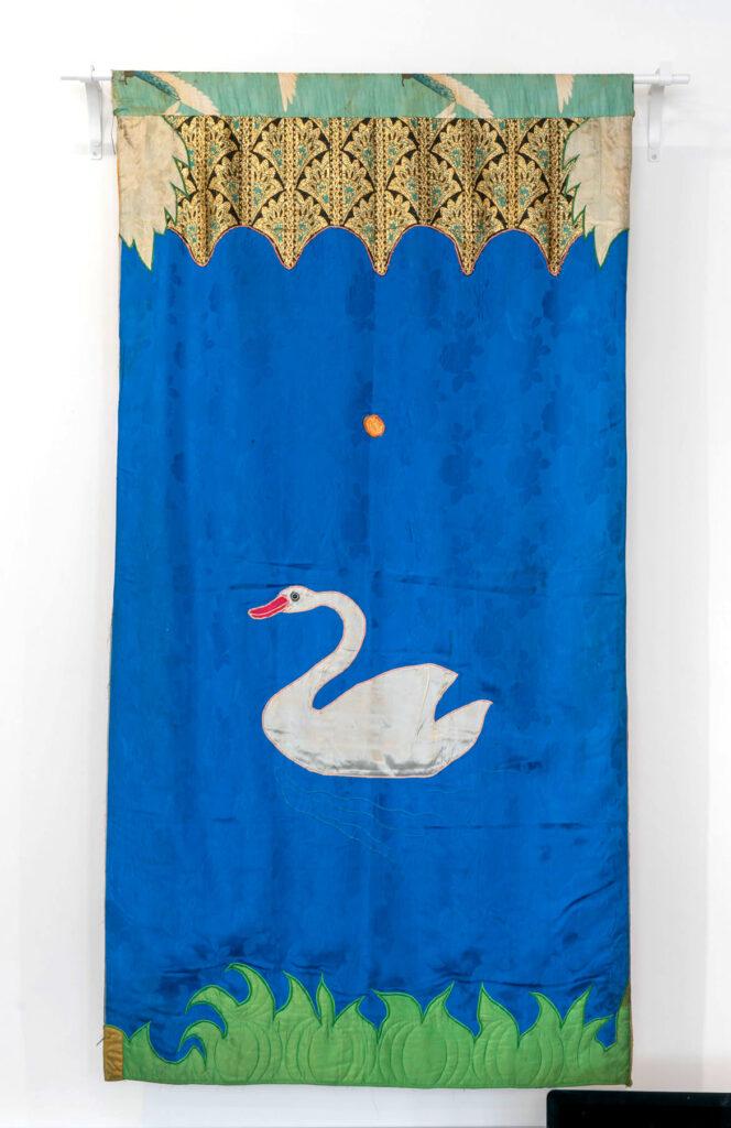 Moki Cherry, title unknown (Swan), c. 1974, textile applique. (Corbett vs. Dempsey)