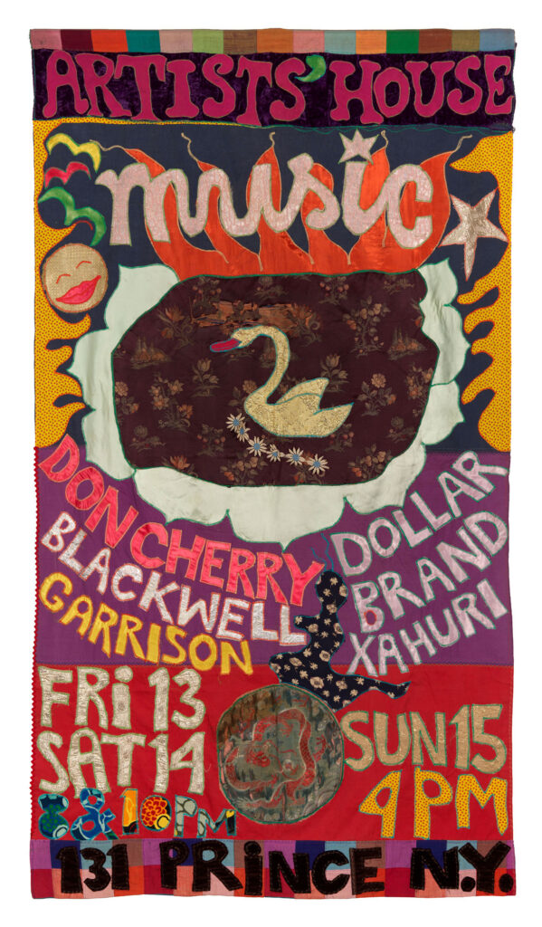 "Moki Cherry, ""Artists' House,"" 1972, silk, cotton, mixed materials. (Corbett vs. Dempsey)"