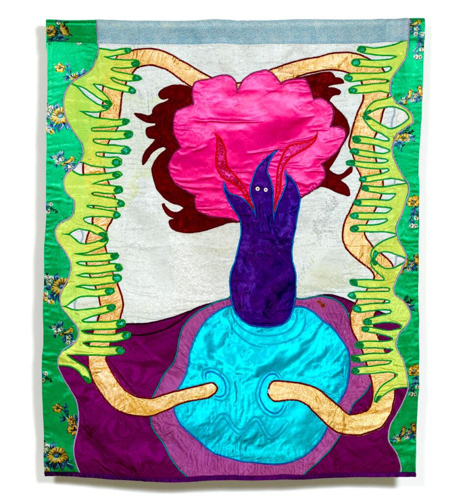 "Moki Cherry, ""Spirit,"" 1976, textile appliqué. (Corbett vs. Dempsey)"