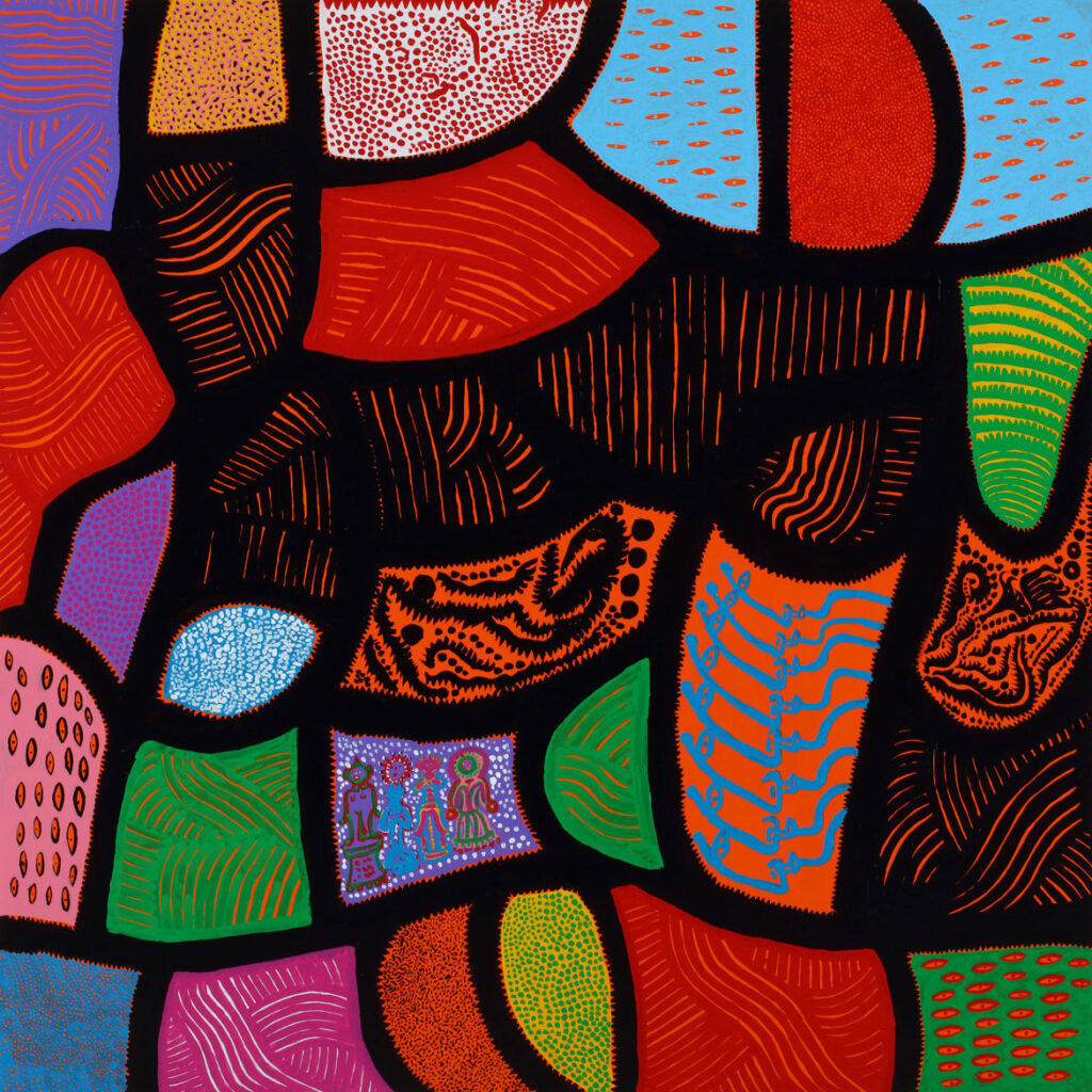 """Yayoi Kusama, """"Alone, Buried in a Flower Garden,"""" 2014. Acrylic on canvas. (Collection of the artist)"""