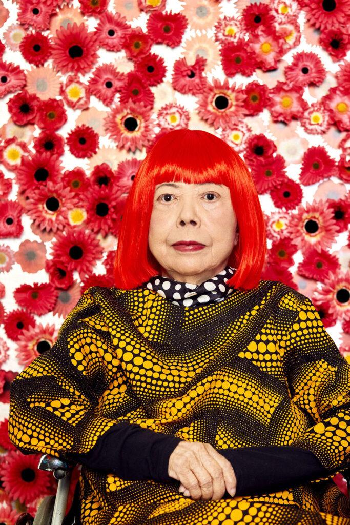 "Yayoi Kusama in ""Flower Obsession."" (Photo by Yusuke Miyazaki)"
