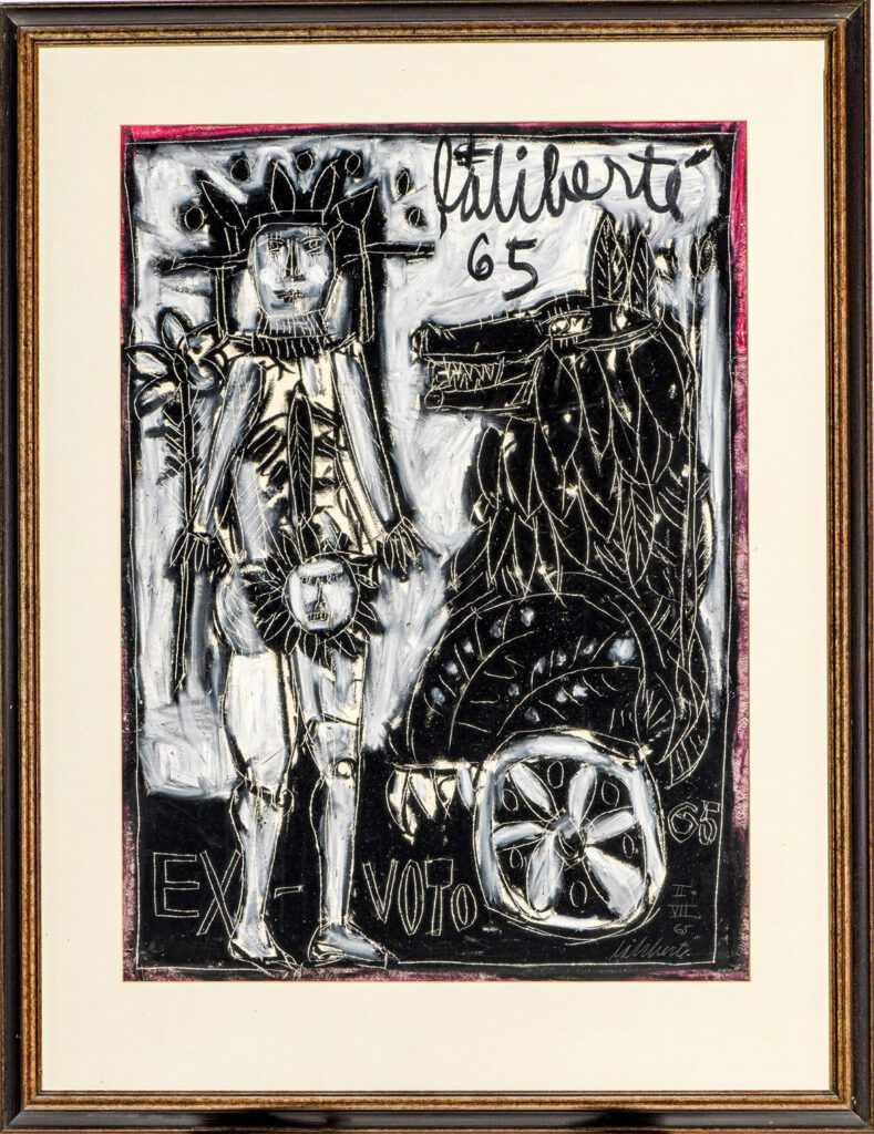 "Norman Laliberte, ""Sun and Lion,"" 1965."